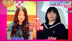 富田望生痩せてる時と太ってる時の比較画像