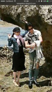 皆藤愛子とToshiya(DIR EN GREY)のフライデーツーショット画像