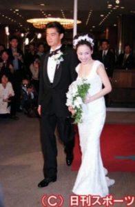松田聖子の2人目の夫だった波多野浩之との結婚式