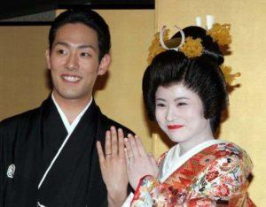 中村勘九郎と嫁・前田愛の結婚式の画像
