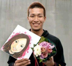 千賀滉大の嫁の似顔絵画像