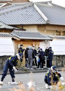 高山清司の自宅で警察が調査している画像