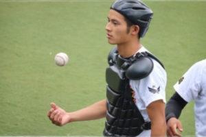 岡田健史が創成館高校時代に試合に出場した画像