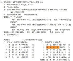 斉藤壮馬が放送部時代に大会に出場した馬が放送部時代に大会に出場した画像
