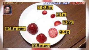 赤楚衛二がアレルギー検査で食べたいちごの画像