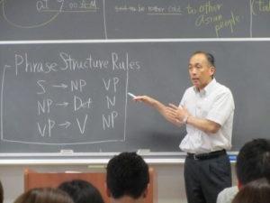 赤楚衛二の父親が大学で英語を教えている画像