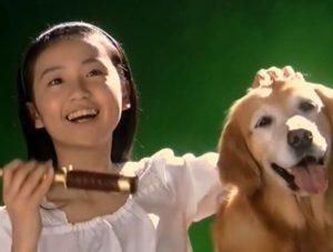 大島優子が子役時代にカネボウのCMに出演した画像