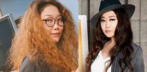 JUJUのすっぴんと化粧後の比較画像(その1)
