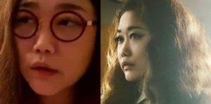 JUJUのすっぴんと化粧後の比較画像(その2)
