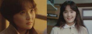 南果歩が若い頃に映画『漂流教室』(1987年)に出演した画像