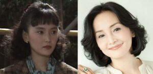 南果歩がドラマ『女正月』(1991年)に出演した若い頃と現在の南果歩の比較画像